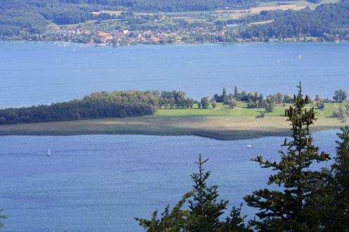 St Peters Island in Lake Biel, Switzerland - only bikes or hiking allowed