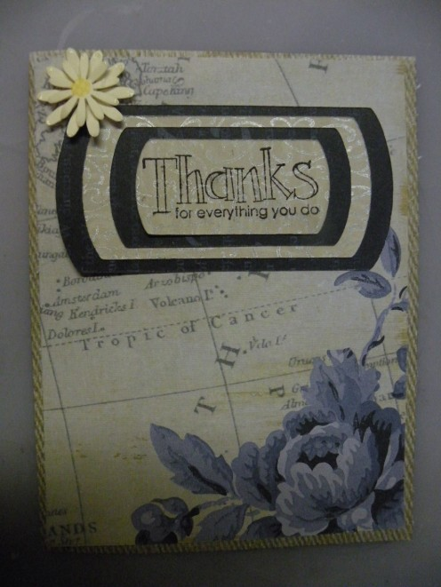 Thanks for Everything You Do card featurng Stampin'Up! and Cricut designs.