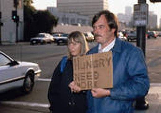 This sight is becoming more and more frequent in the U.S.A.--single and married people holding signs to find food and jobs. Use your resources that I have given you and keep on trying everday. Your job will come through.