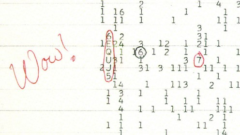 The WOW Signal.
