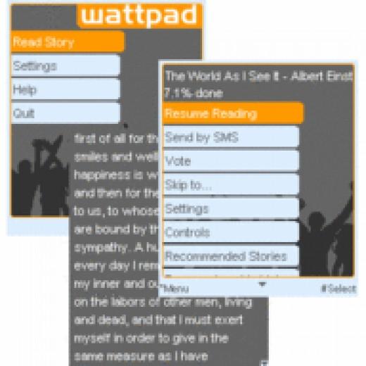 Wattpad mobile app