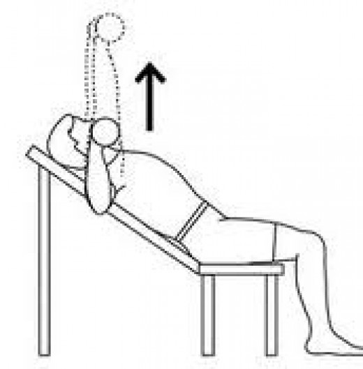 Incline bench press, a variation of the classic bench press.