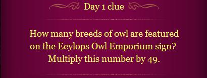 Pottermore Clue Day 1