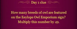 Pottermore Clue Day 1