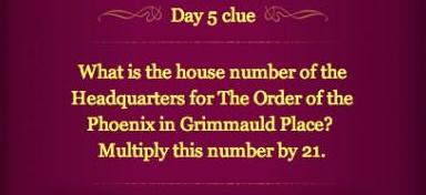 Pottermore Clue Day 5