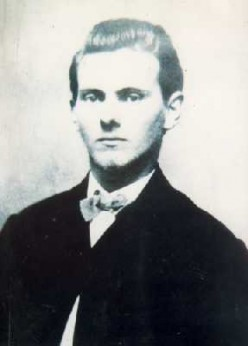 Old picture of a young Jesse James.