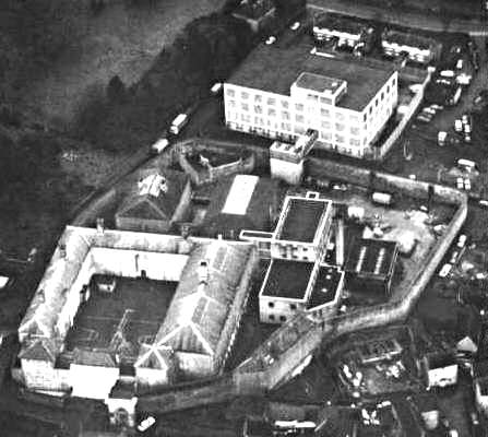 An aerial view of Shepton Mallet Prison