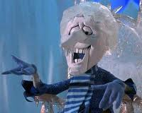 """Snow Miser""...could put the ""Freeze"" on anything and was not easy to look at...when I was a kid. (Along with his brother!)"