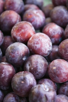Prunes and plums for constipation
