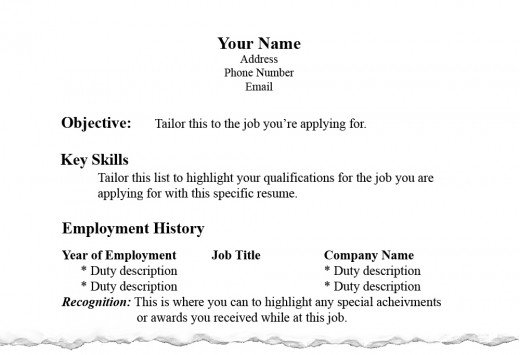 resume writing proper resume layout hubpages