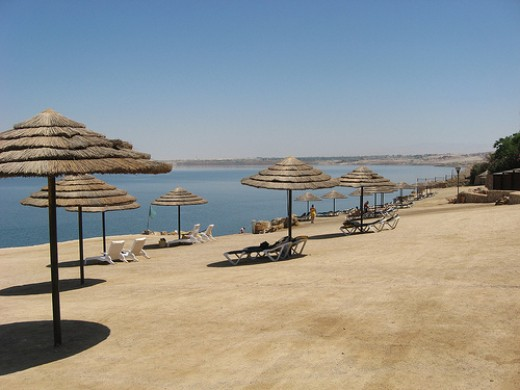 Dead Sea Beach at Marriot Hotel