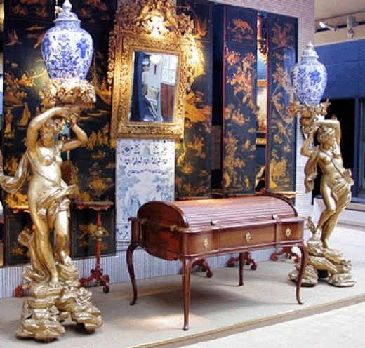 Antique fairs such as 'Olympia Fair', are great places to find furnishings for your home such as a bar globe