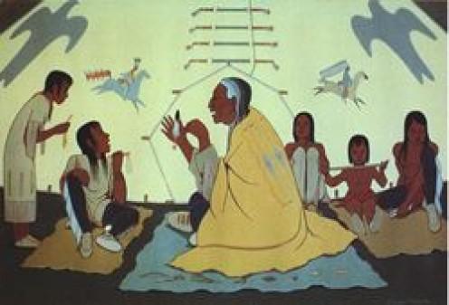 """""""Talking History"""", a Lakota storyteller"""