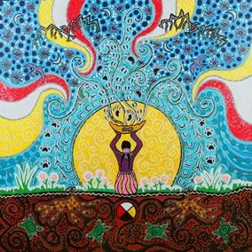 """Vision Quest"" by native artist Leah Marie Dorion"