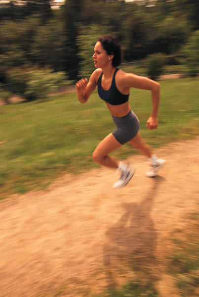 High intensity exercise, like jumping rope or running, helps disperse the adrenaline that comes with nerves and stress.