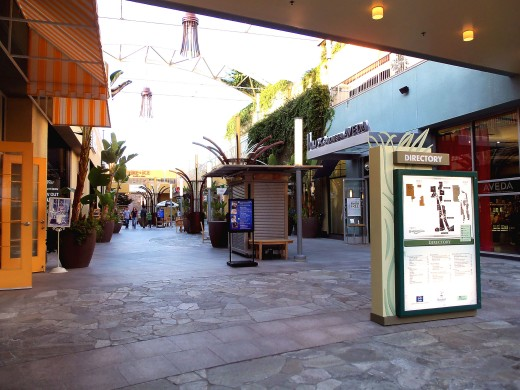 "- Inside the ""Anaheim GardenWalk"" - Cobblestone style European walkways are predominant which adds to the cozy petite appeal -"