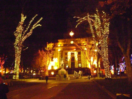 Courthouse at Christmas time