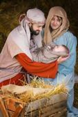 Joseph and Mary, proud parents of the Christ Child, born in a manager, but was King of King and Lord of Lords.