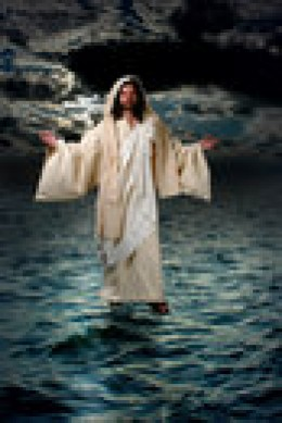 Yes, Peter saw Jesus walking on the water and Jesus commanded Peter to 'walk to him.' Peter obeyed and DID walk on the water as long as he kept his eyes on Jesus.