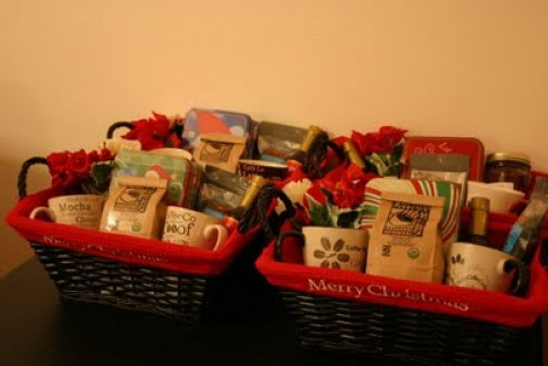 Personalized Christmas Coffee Mugs Gift Baskets