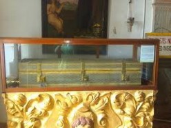 COFFIN IS OPEN ONCE A YEAR FOR ANY ONE TO TAKE THE BLESSING OF THIS SAINT AT GOA INDIA.IN THE PICTURE ITS CLOSED.