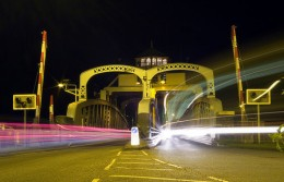 Sutton Bridge at night