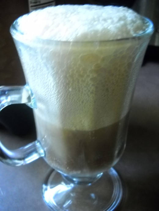 Diet Root Beer with heavy whip cream