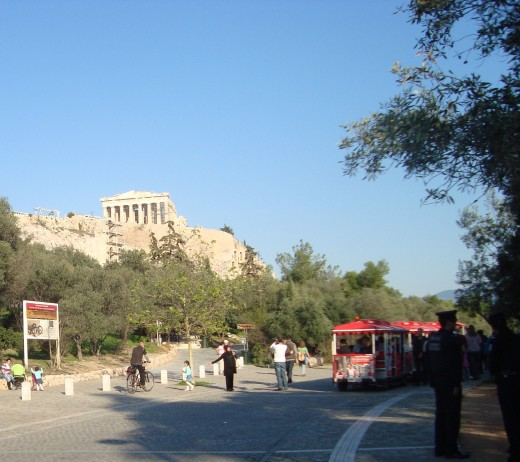 The Acropolis from Athens
