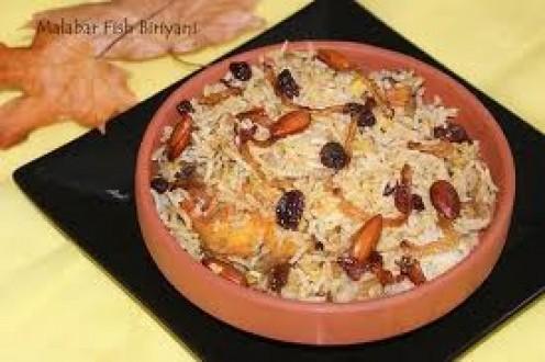 moplah fish biriyani (malabar meen biriyani)
