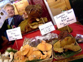 Organic Mushrooms at Queen Victoria Market, Melbourne