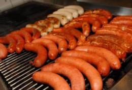 Bratwurst sausages at Queen Victoria Market, Melbourne