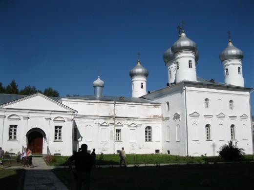 Saviour Church & Archimandrite's Bldg in St. George's Monastery, Veliky Novgorod, Russia
