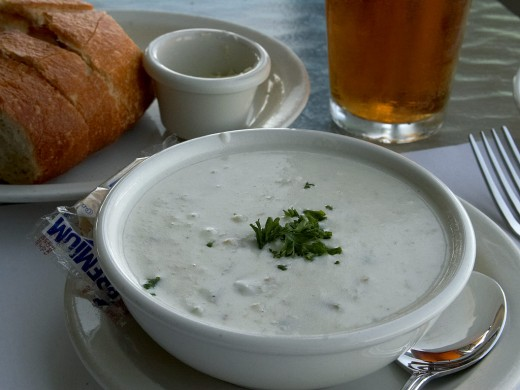 Clam chowders are comfort food, and can be thickened with either a roux or a cream base.