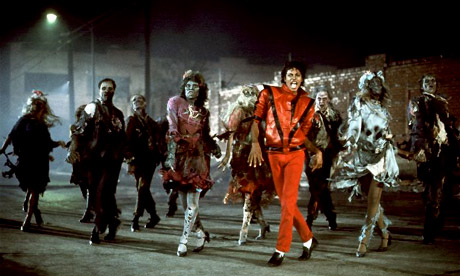 Choreography by satin-footed dance masters Michael Jackson and Michael Peters.