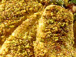 Flavorful Pistachio crusted Tilapia fish.