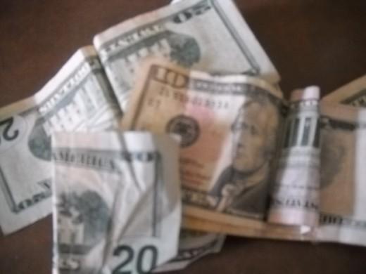 Money, U.S. dollar bills