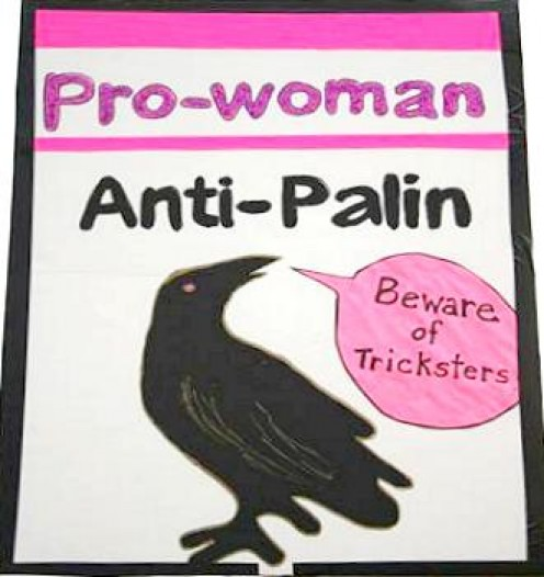 Sign at last week's Alaskans Against Palin rally.