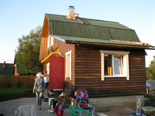 Summer home of a friend in the Valday District of the Novgorod Oblast, Russia