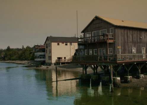 View of Coupeville waterfront from the water