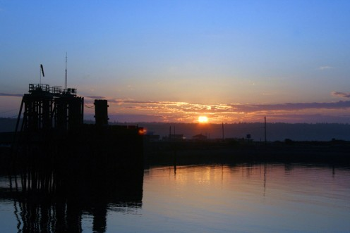 Ft. Casey Ferry terminal - early sunrise Ferry takes you to Port Townsend & Olympic Peninsula