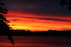 Dramatic Whidbey Sunrise