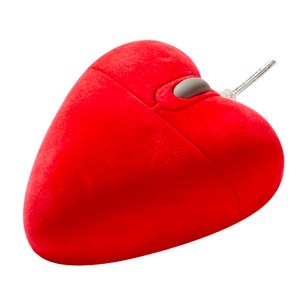 Heart shaped mouse gadget gift