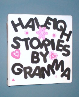 Decorate the Grandma's Book cover to fit the child's personality.