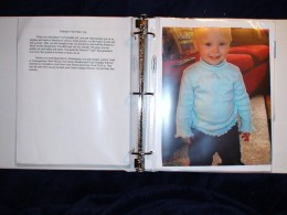 Add photos of the child and write anecdotes about what makes this child unique.