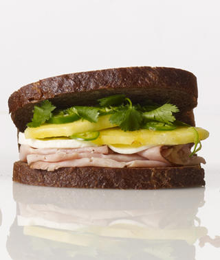 the ham,pineapple and fresh mozzarella sandwich.