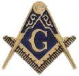 Freemasons Square and Compass Symbol