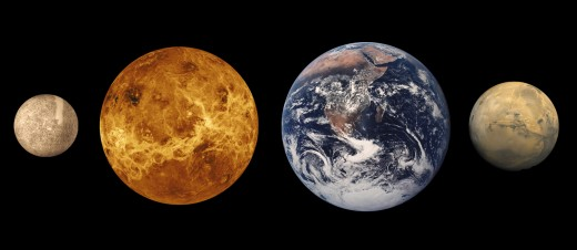 Terrestrial Planets: Mercury,  Mars and Earth and Venus