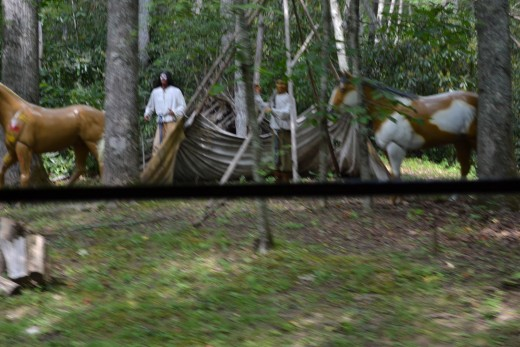 Indian settlement replica