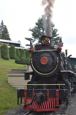 The Yukon Queen steam engine pulled us around the mountain.