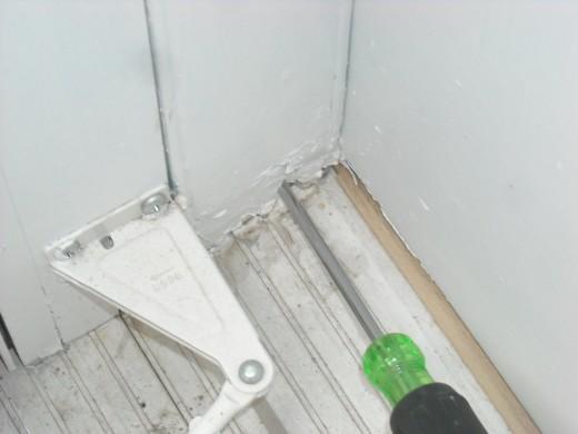 Probe of a rotten door jamb.
